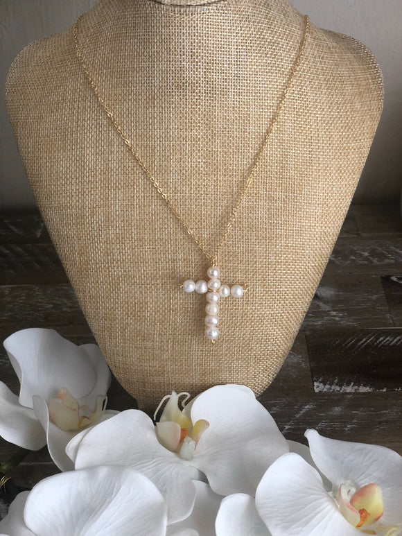 Small Baroque Pearl Cross