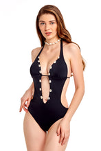 Load image into Gallery viewer, Monokini - Black with Shells