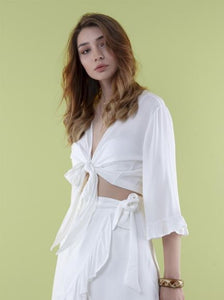 The Natural People - Blouse with Bow & Spanish Skirt with Frill