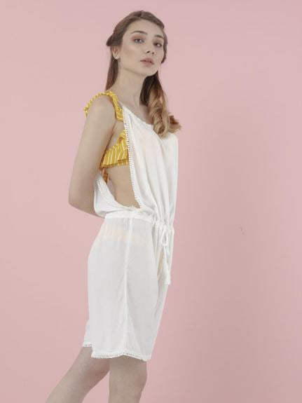 The Natural People - Short-Rompers with Pompon Detail