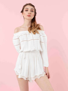 The Natural People - Short-Rompers with Laces Detail