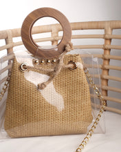 Load image into Gallery viewer, Wicker Bag with Wooden Handle