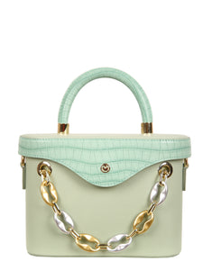 Mademoiselle Ginny Hand and Shoulder Bag - Green