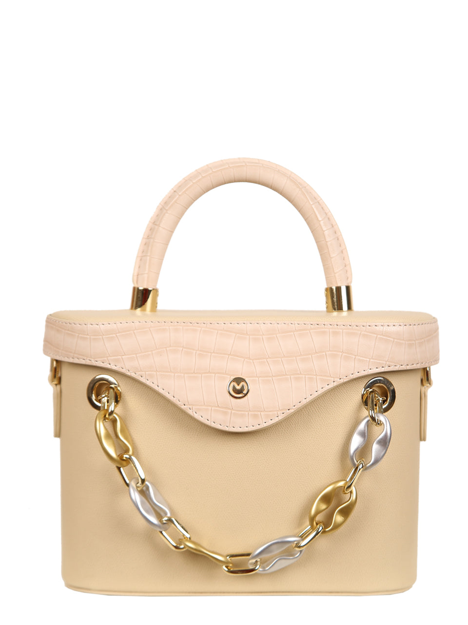 Mademoiselle Ginny Hand and Shoulder Bag - Beige