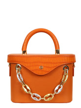 Load image into Gallery viewer, Mademoiselle Ginny Hand and Shoulder Bag - Orange