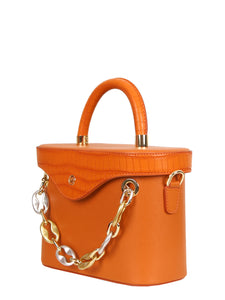 Mademoiselle Ginny Hand and Shoulder Bag - Orange