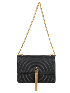 Mademoiselle Polly Shoulder Bag - Black