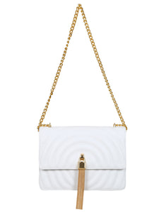 Mademoiselle Polly Shoulder Bag - White