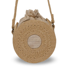 Load image into Gallery viewer, Round Rope Bag with Strap