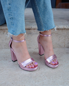Metallic Pink High Heels