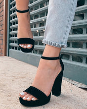 Load image into Gallery viewer, Black Suede High Heels