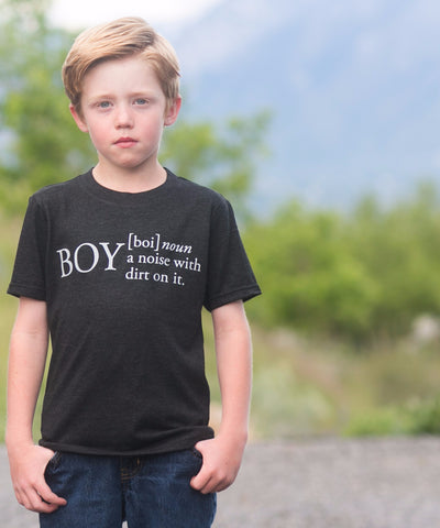 'BOY: A Noise With Dirt On It' Tee
