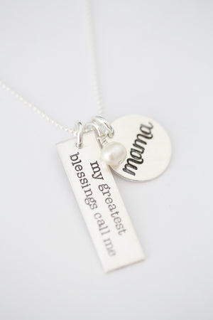 'My Greatest Blessings Call Me' Charm