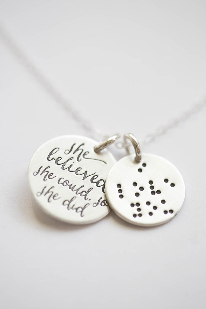Braille 'I Love You' Charm