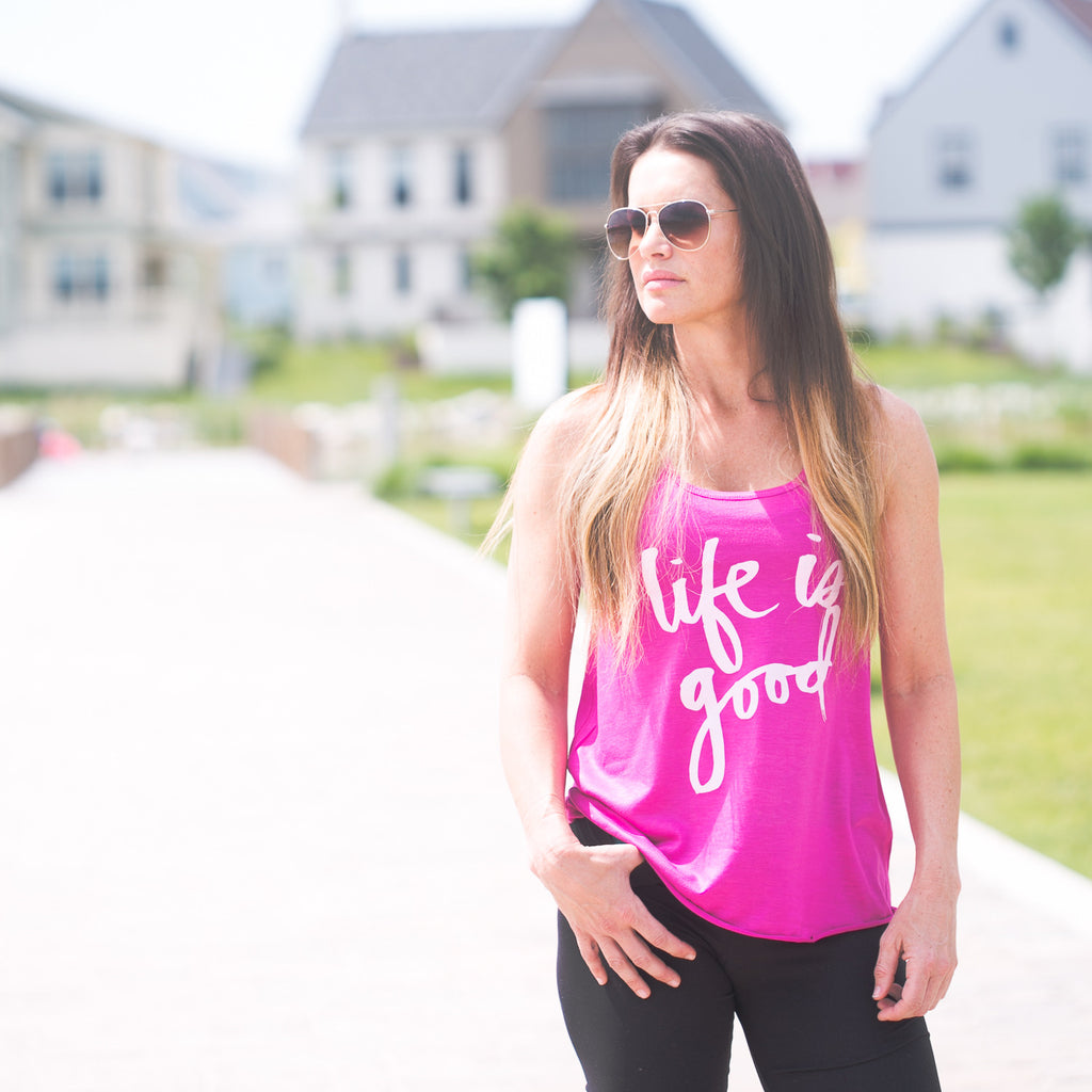 'Life is Good' by Heidi Swapp™ Flowy Tank
