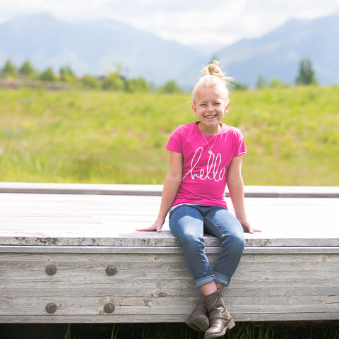 'Hello' by Heidi Swapp™ Girls Tee