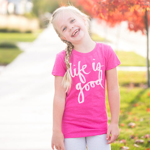 'Life is Good' by Heidi Swapp™ Girls Tee
