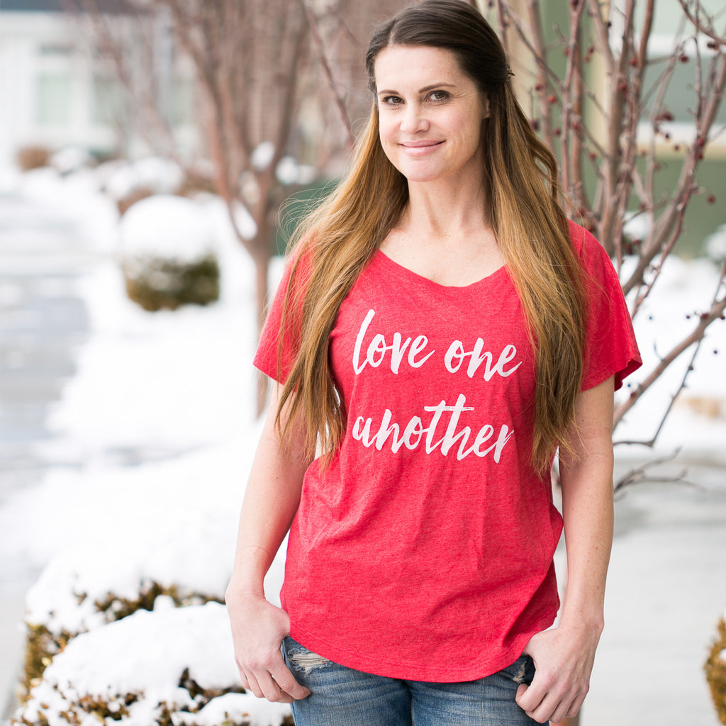'Love One Another' Dolman Tee