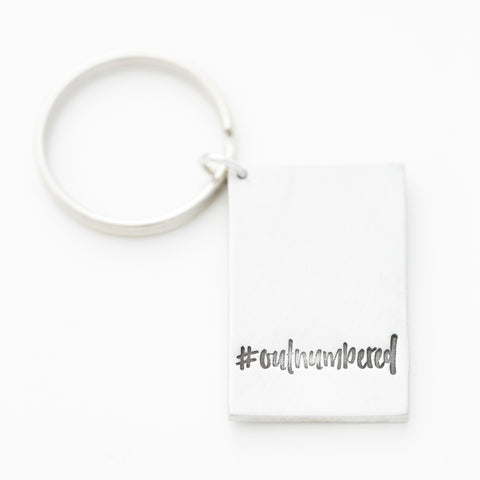 '#Outumbered' by boymom® Key Chain