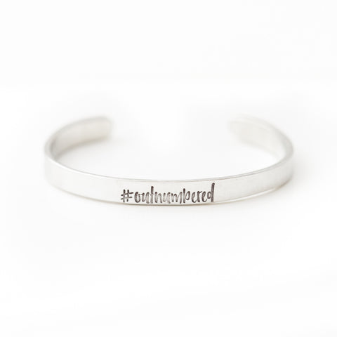 '#Outnumbered' by boymom® Cuff Bracelet