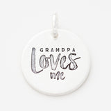 'Grandpa Loves Me' Charm