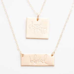 'Blessed' Bar Necklace by Heidi Swapp™