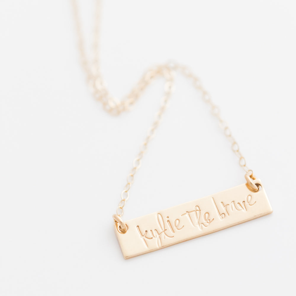 Personalized Bar Necklace by Heidi Swapp™