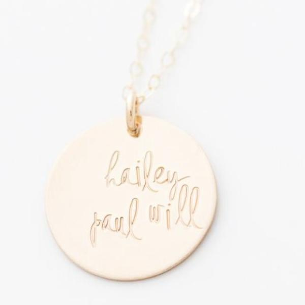 14k Gold Filled Hand Stamped Personalized Custom Necklace by
