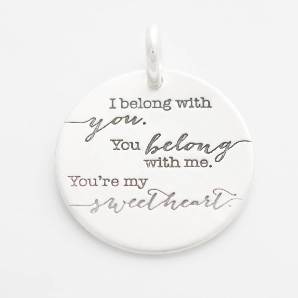 'I Belong With You, You Belong With Me' Charm