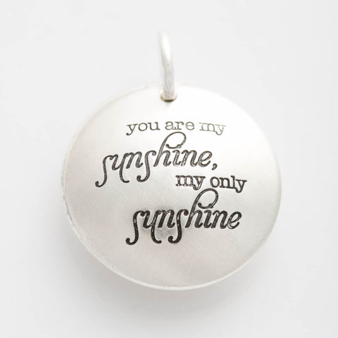 'You Are My Sunshine' Swinging Locket Charm