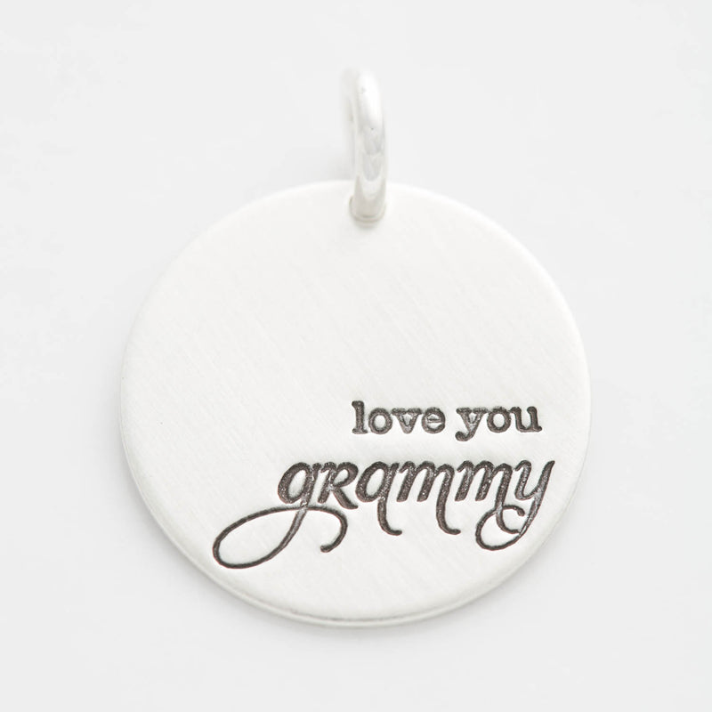 'Love You Grammy' Charm