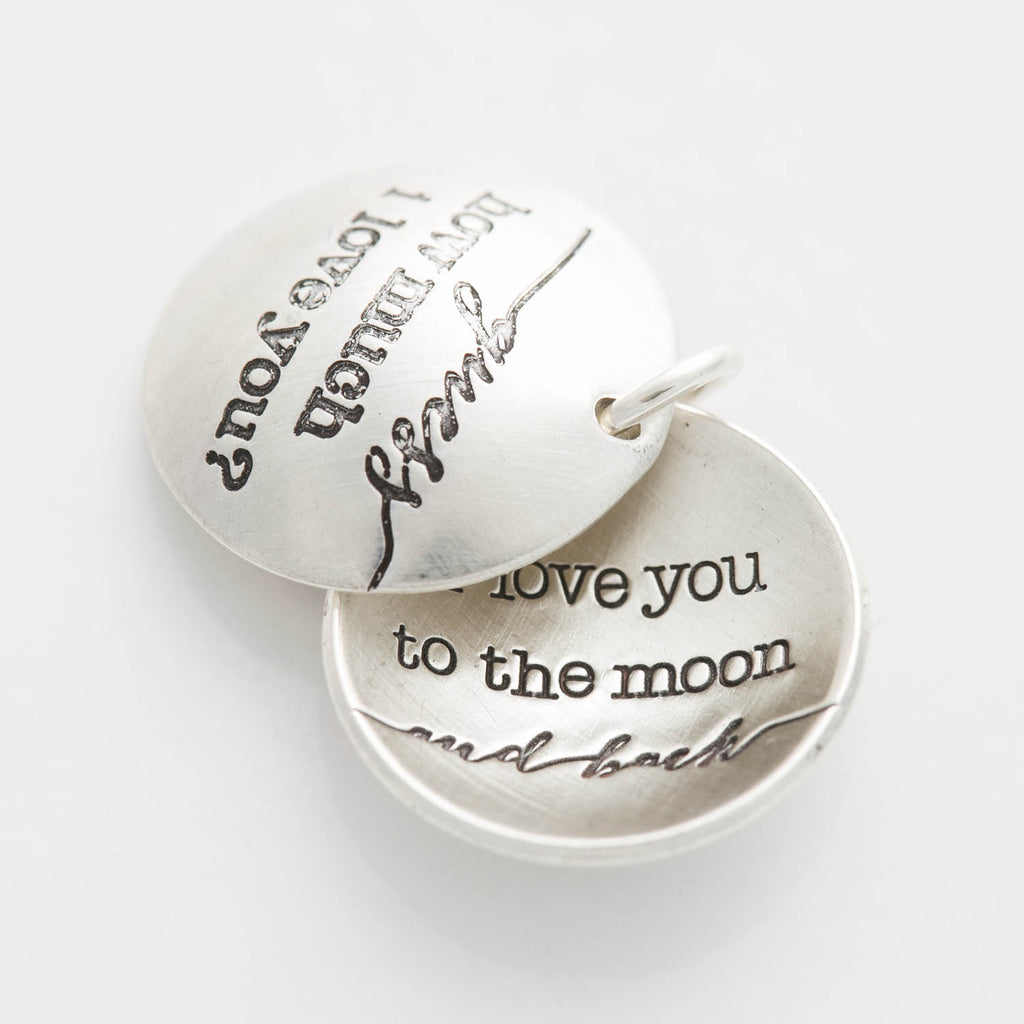 'Moon and Back' Swinging Locket Charm