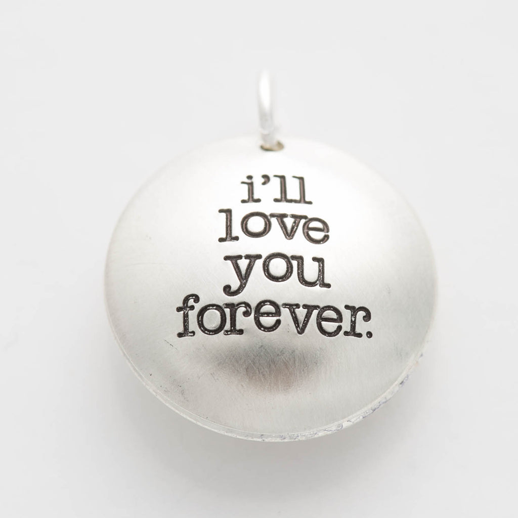 'I'll Love You Forever' Swinging Locket Charm