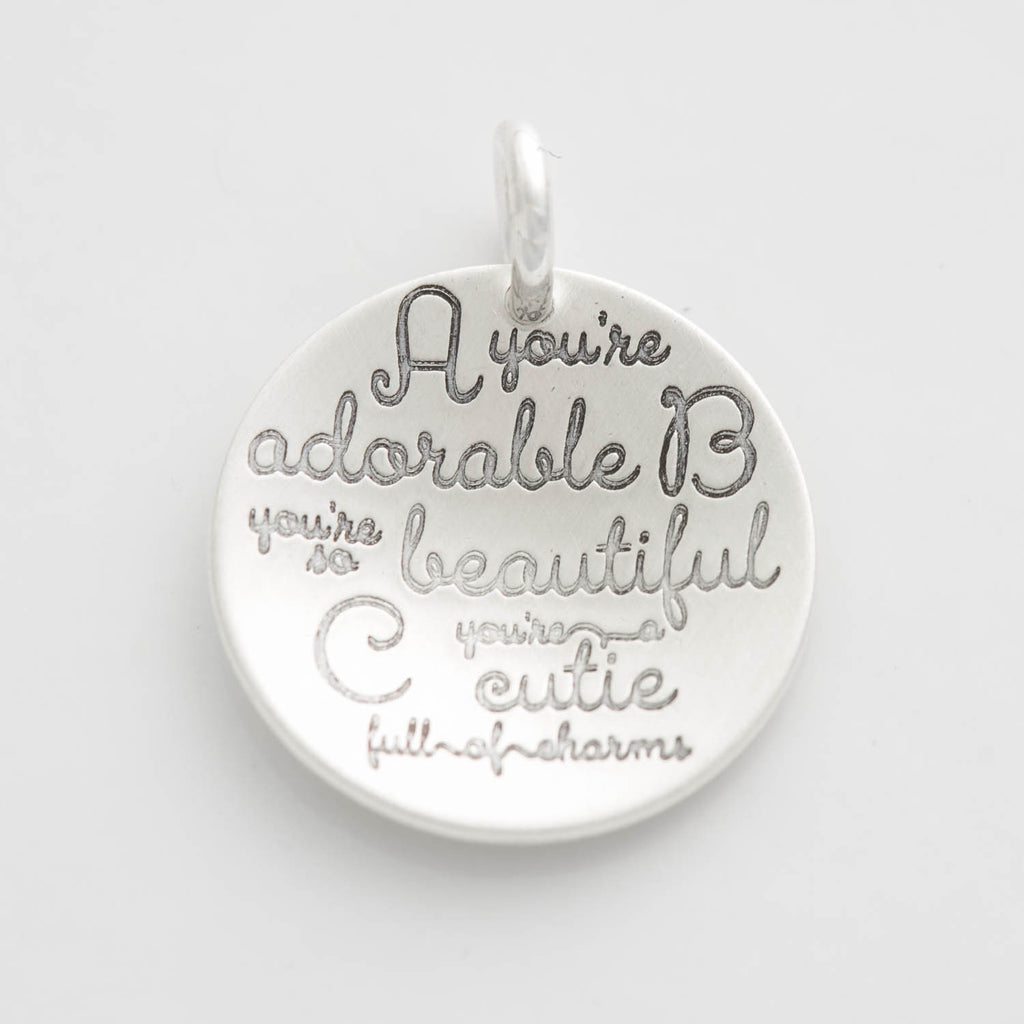 'A, You're Adorable, B, You're So Beautiful' Charm