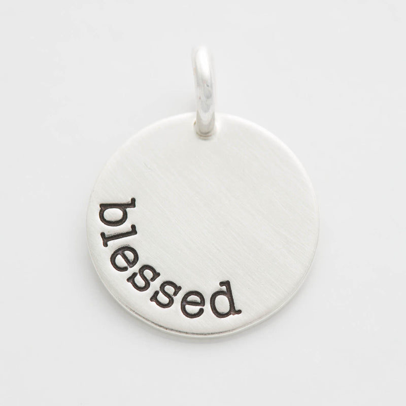 'Blessed' Round Charm