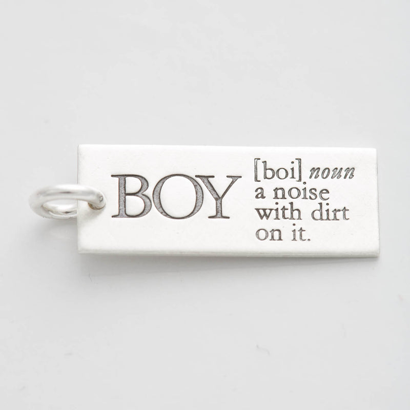 'BOY: A Noise With Dirt on It' Charm