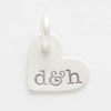 Personalized Initials Tiny Heart Charm