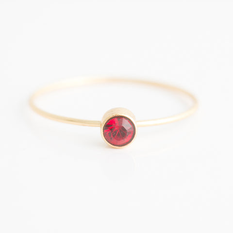 Swarovski Stacking Ring: January/Garnet