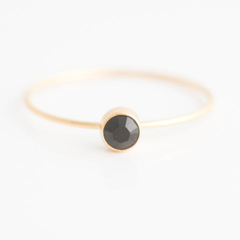 Swarovski Stacking Ring: Jet Black