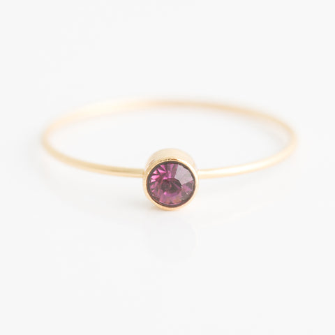 Swarovski Stacking Ring: February/Amethyst