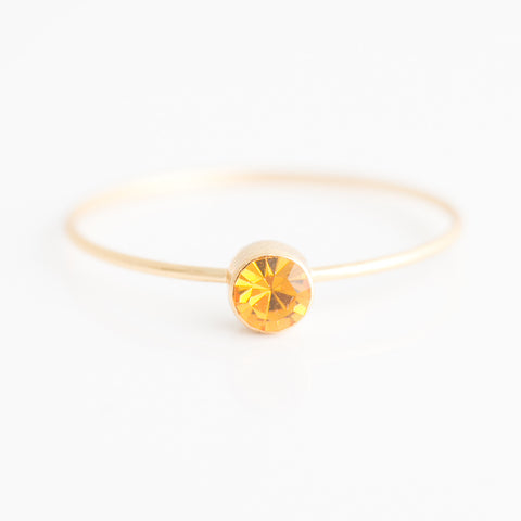 Swarovski Stacking Ring: November/Topaz