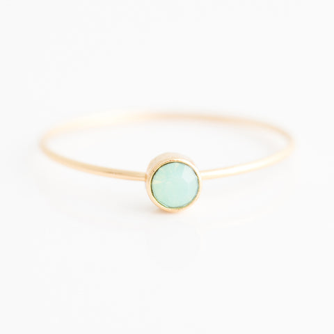 Swarovski Stacking Ring: Pacific Opal