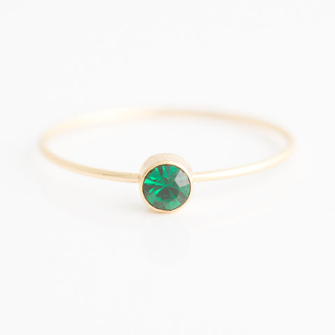 Swarovski Stacking Ring: May/Emerald