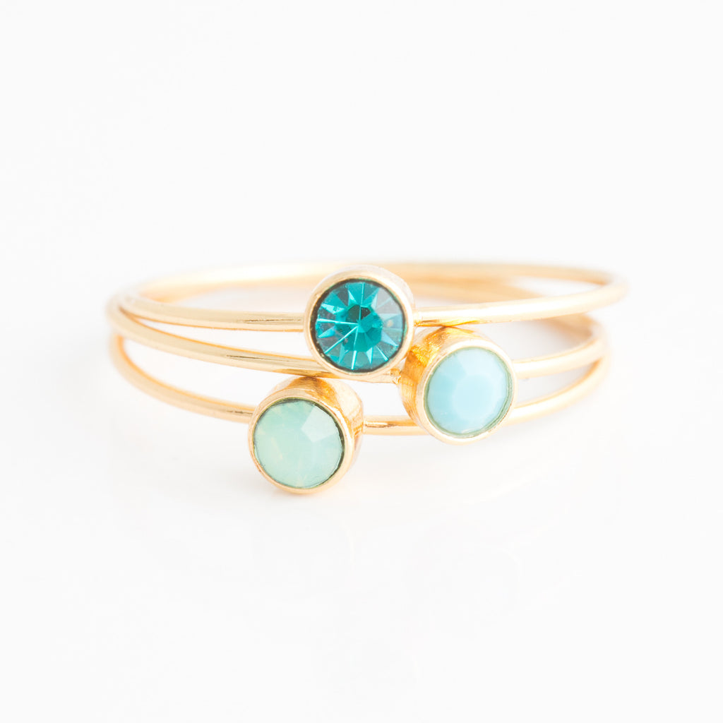 Swarovski Stacking Ring: July/Light Siam