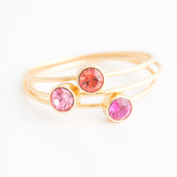 Swarovski Stacking Ring: Sunset Pink
