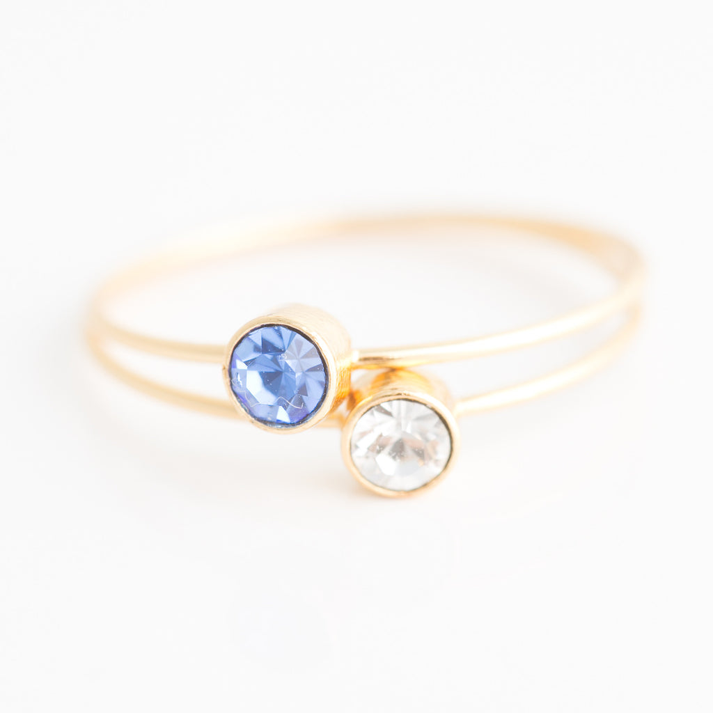 Swarovski Stacking Ring: September/Sapphire