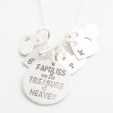 'Families Are the Treasure of Heaven' Charm