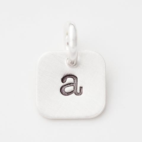 Tiny Square Initial Charm