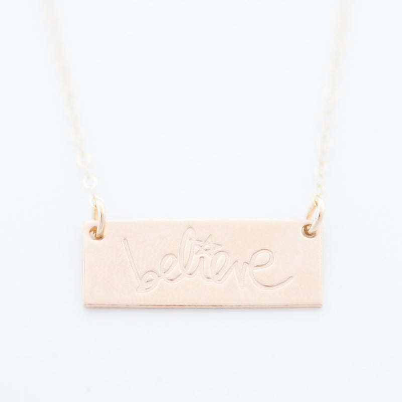 'Believe' Bar Necklace by Heidi Swapp™