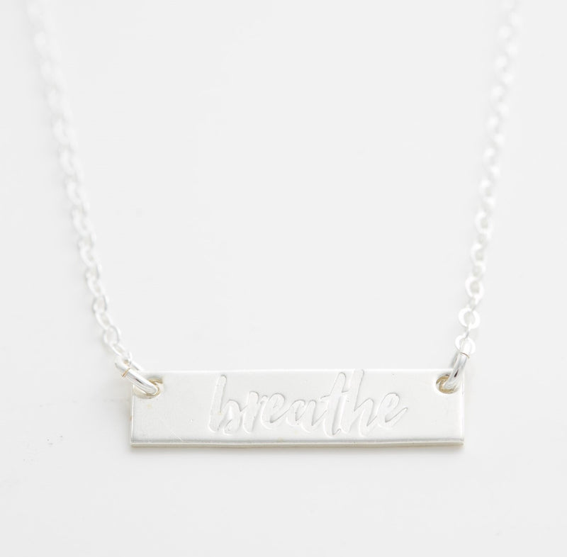 'Breathe' Bar Necklace